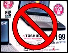 Toshiba engaña